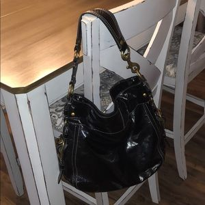 *Gently Used Like New* Black Coach shoulder bag